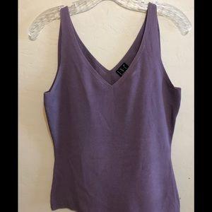 INC purple v-neck business tank top